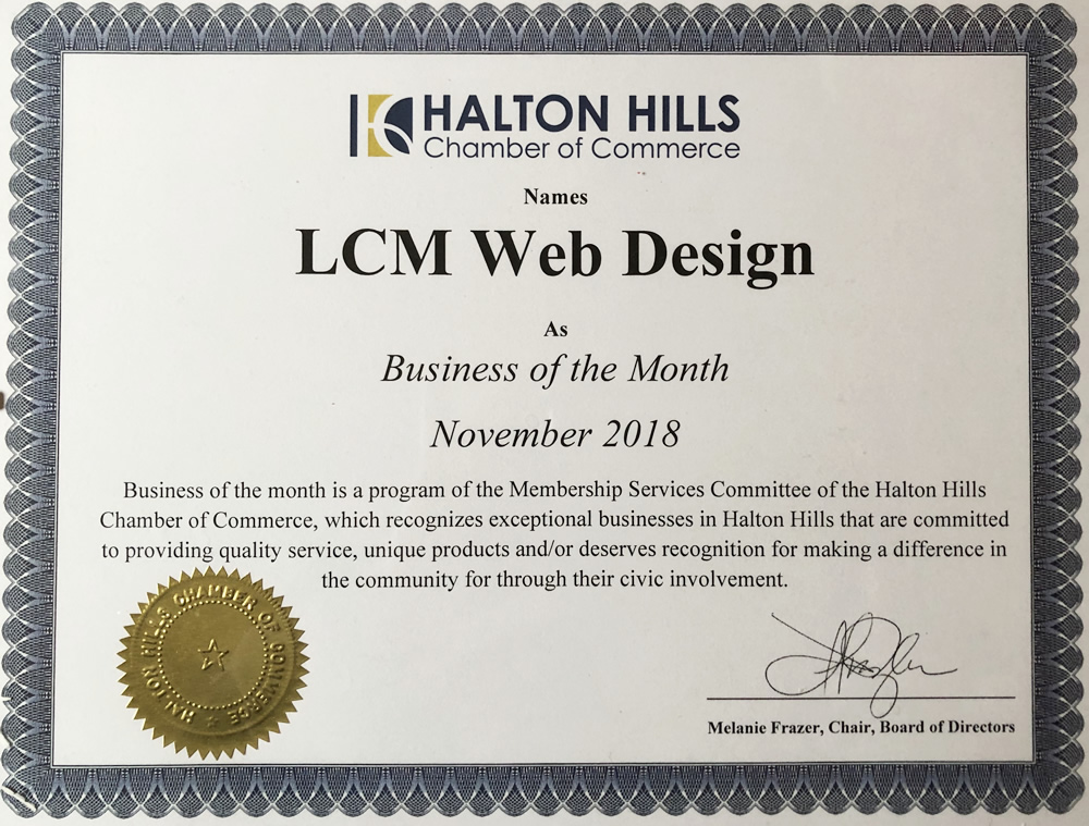 Business of the Month- LCM Web Desgin